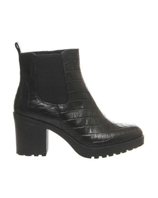 vagabond grace heeled chelsea boots in black save 41 lyst. Black Bedroom Furniture Sets. Home Design Ideas