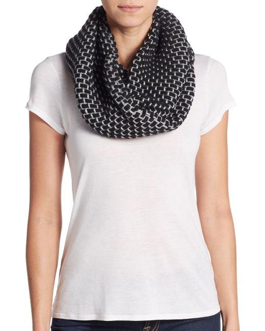 Calvin Klein | Black Stitched Infinity Scarf | Lyst