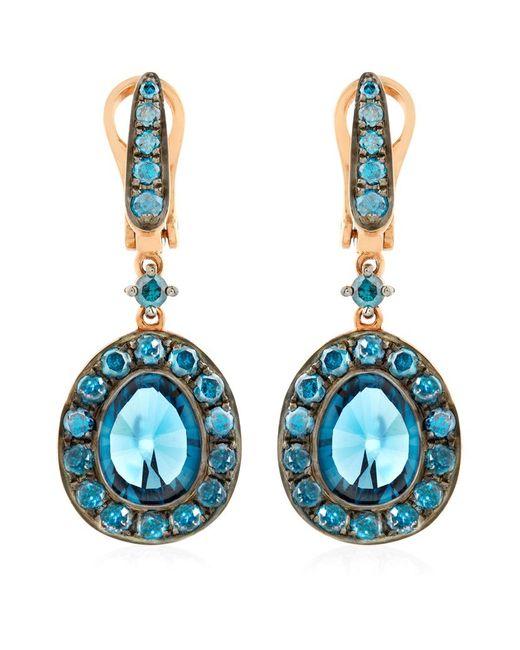 Annoushka | Blue Dusty Diamonds Topaz Drop Earrings | Lyst