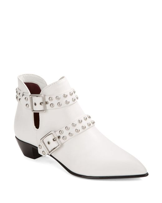 Marc By Marc Jacobs | White Carroll Studded Leather Booties | Lyst