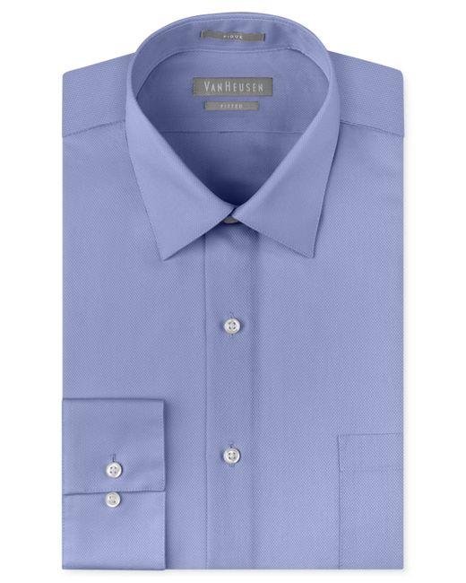 Van heusen men 39 s extra slim fit non iron piqu dress shirt for Non iron slim fit dress shirts
