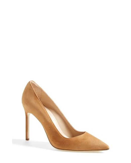 Manolo Blahnik | Brown BB Suede Pumps | Lyst