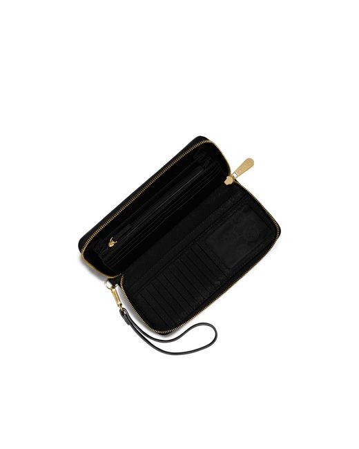 Michael Kors | Black Jet Set Travel Leather Continental Wallet | Lyst