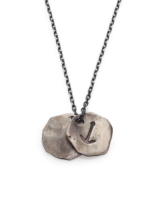 Miansai | Metallic Anchor Medallion Necklace | Lyst