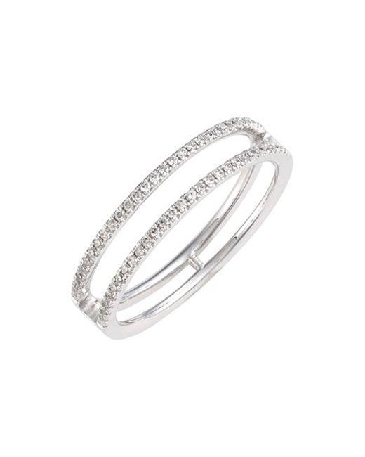 Bony Levy | Metallic 'prism' Two-row Diamond Ring (nordstrom Exclusive) | Lyst