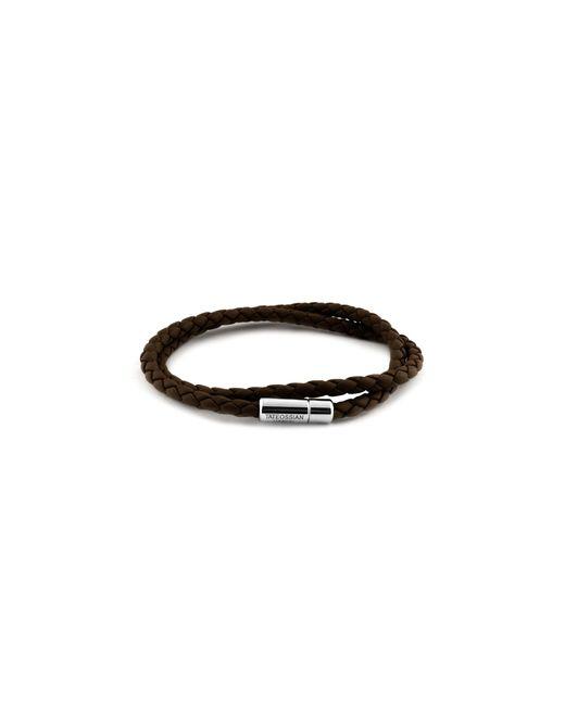 Tateossian | Brown Leather Bracelet for Men | Lyst