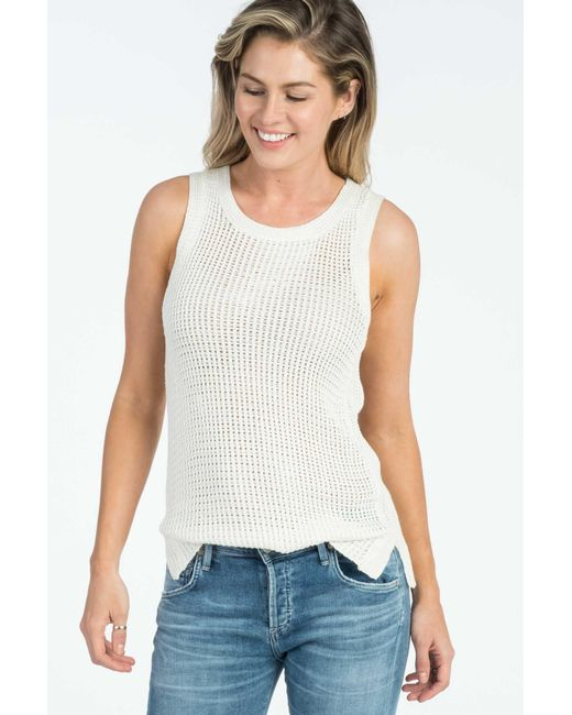Faherty brand Ava Tank in White