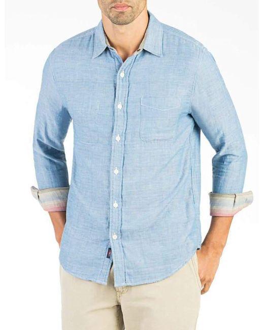Faherty Brand - Blue Reversible Belmar Workshirt for Men - Lyst