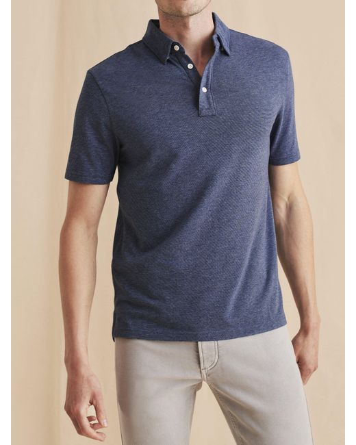 Faherty Brand Blue Movementtm Short-sleeve Polo for men