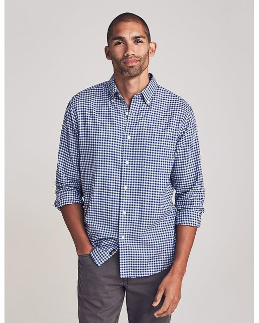 Faherty Brand Blue Everyday Button-down Shirt for men