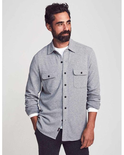 Faherty Brand Gray Legend Sweater Shirt for men