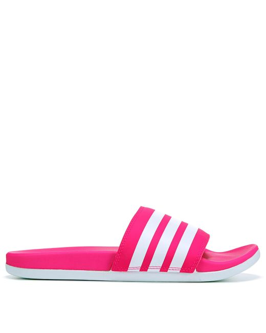 Adidas Pink Adilette Slide Sandals From Finish Line