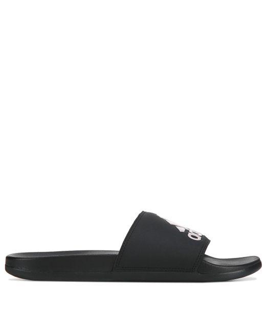 Adidas Black Adilette Slide Sandals From Finish Line