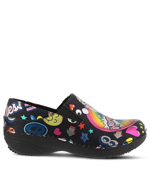 Spring Step Black Ferrara Slip Resistant Slip On Shoes