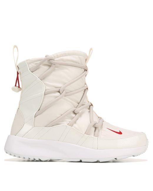 Nike White Tanjun High Rise Sneaker Boots