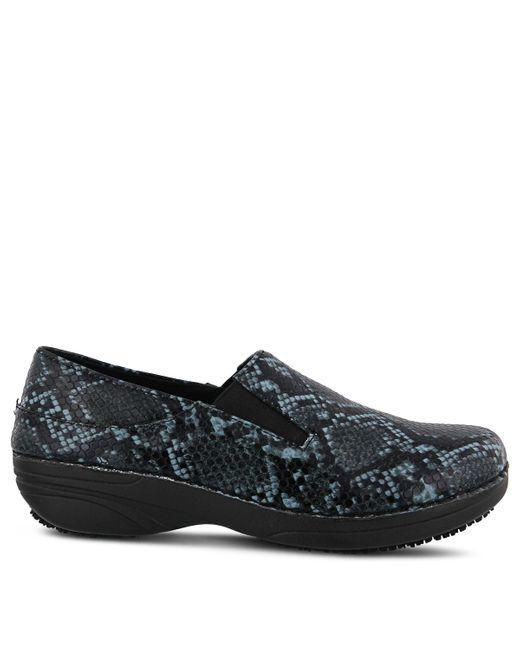 Spring Step Blue Ferrara Slip Resistant Slip On Shoes