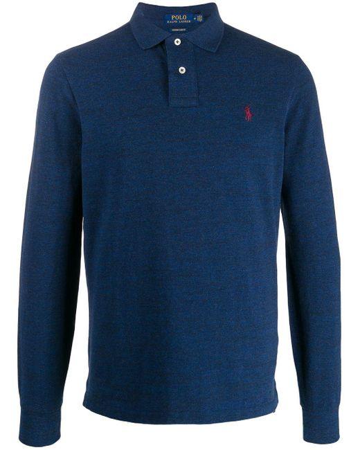 メンズ Polo Ralph Lauren ロングスリーブポロシャツ Blue