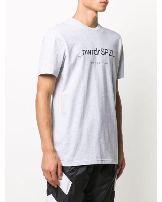 メンズ Adidas ロゴ Tシャツ White