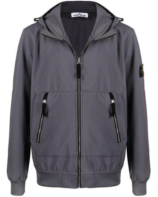 Легкая Куртка С Капюшоном Stone Island для него, цвет: Gray