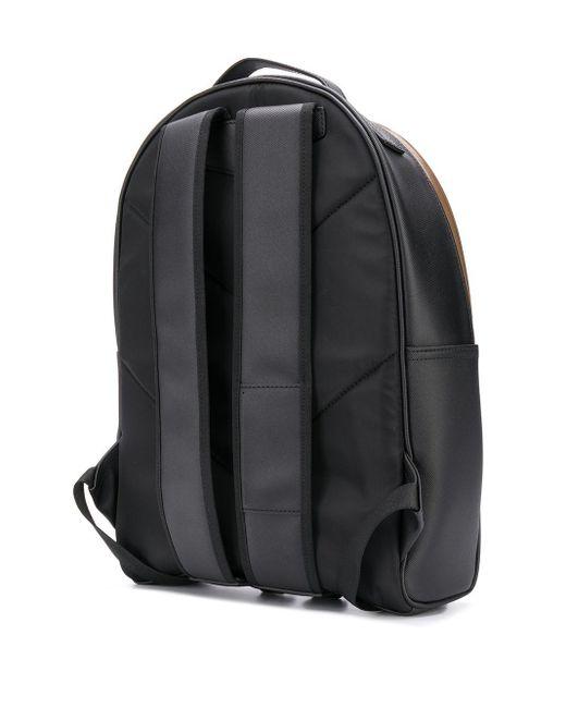 メンズ Emporio Armani エンボスロゴ バックパック Black