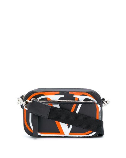 メンズ Valentino Garavani Vロゴ ベルトバッグ S Black
