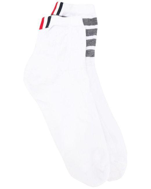 メンズ Thom Browne 4bar 靴下 White