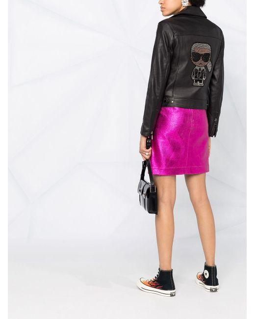 Юбка Karl Karl Lagerfeld, цвет: Pink