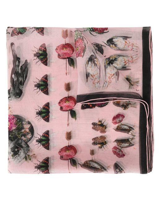 Alexander McQueen Victorian Curiosities スカーフ Pink
