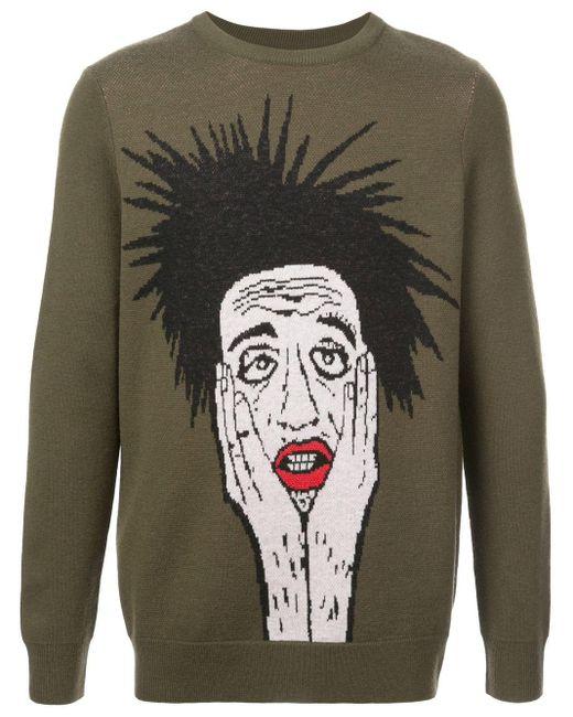 メンズ Haculla Stop Calling Me セーター Multicolor