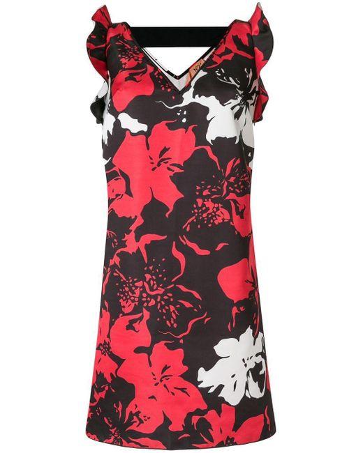 N°21 フローラル ノースリーブドレス Black