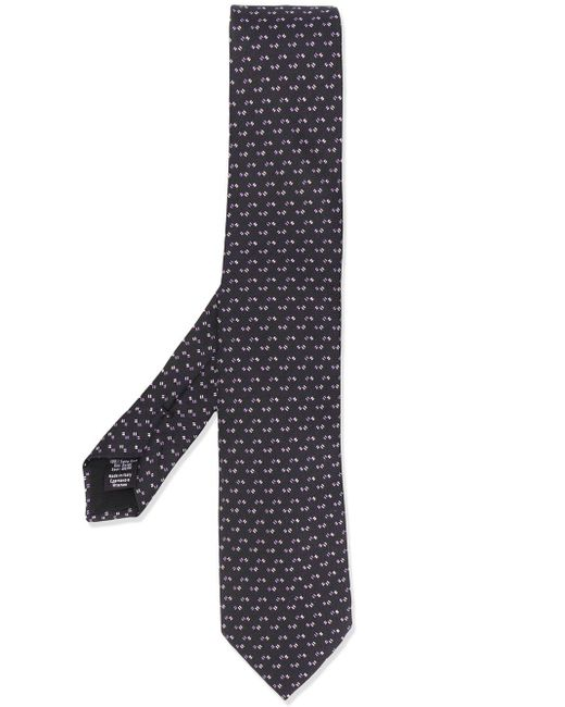 BOSS by Hugo Boss Gemusterte Krawatte in Black für Herren