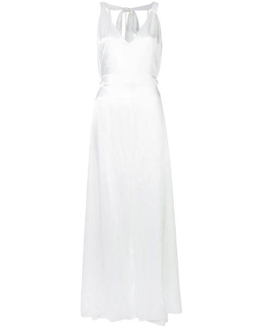Temperley London Vネック イブニングドレス White