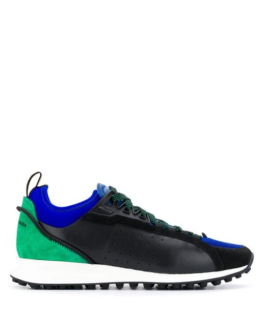 Zapatillas con diseño colour block DSquared² de hombre de color Black