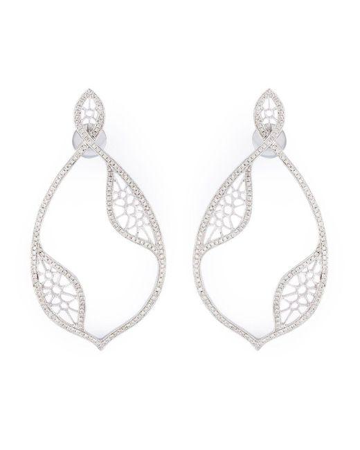 Joelle Jewellery Metallic Diamond Teardrop Earrings