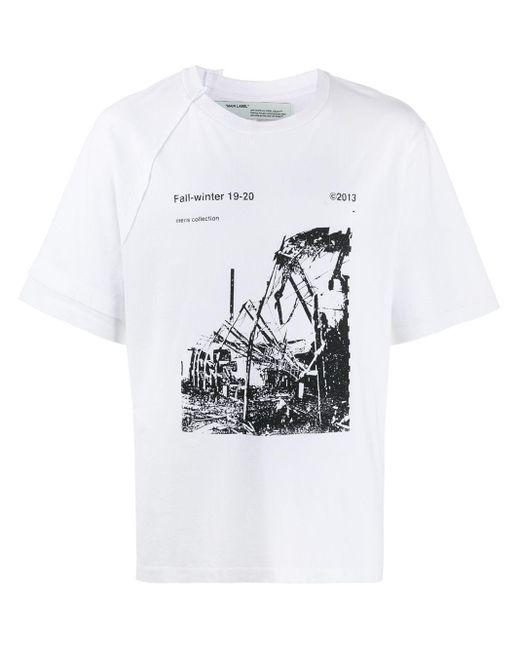 メンズ Off-White c/o Virgil Abloh ロゴ プリント Tシャツ Multicolor