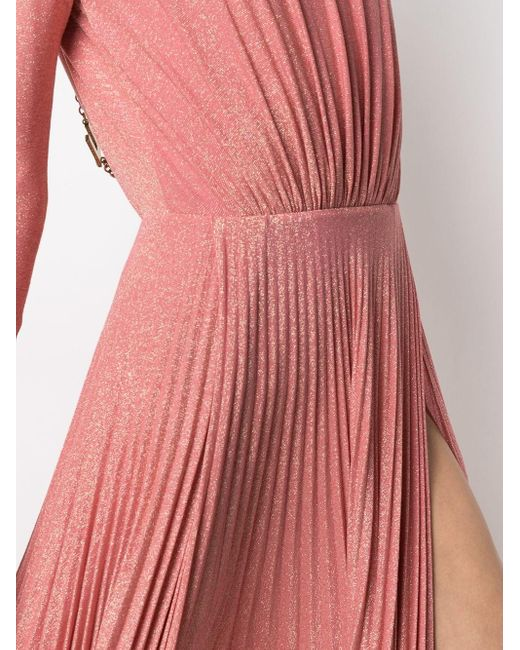 Elisabetta Franchi プリーツ ドレス Pink