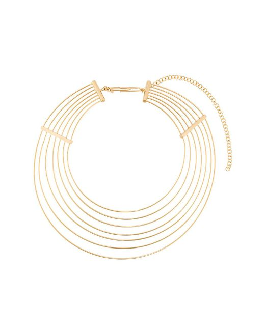 Aurelie Bidermann Metallic Thalia Necklace