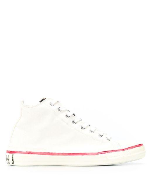 Высокие Кеды С Принтом Граффити Marni, цвет: White
