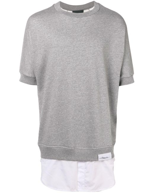 メンズ 3.1 Phillip Lim ショートスリーブ スウェットシャツ Gray