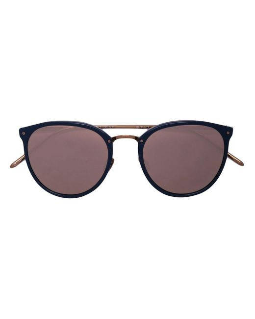 Linda Farrow Oversized Round Frame Sunglasses Blue