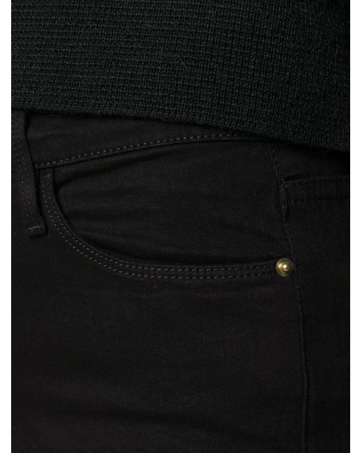 Джинсы Скинни Le Colour Crop FRAME, цвет: Black
