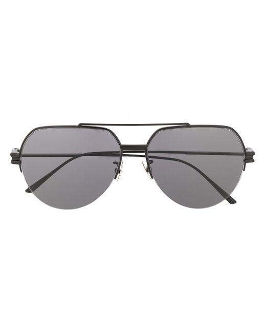 Солнцезащитные Очки-авиаторы Bottega Veneta, цвет: Black