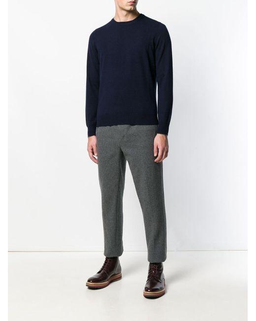 メンズ Brunello Cucinelli クルーネックセーター Blue