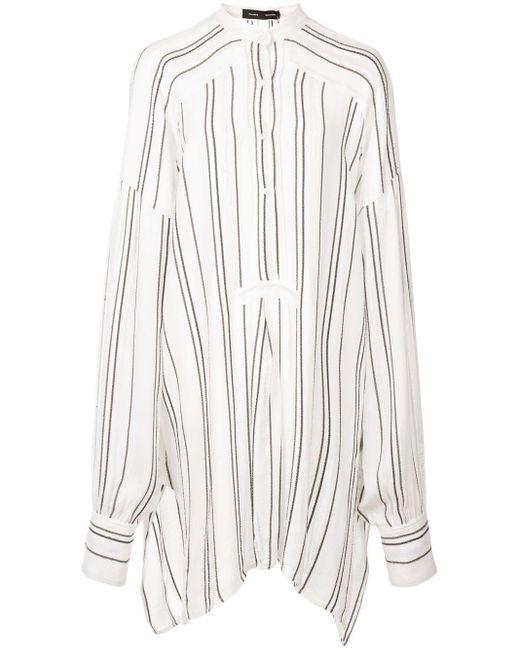Chemise rayée en crêpe de chine Proenza Schouler en coloris White