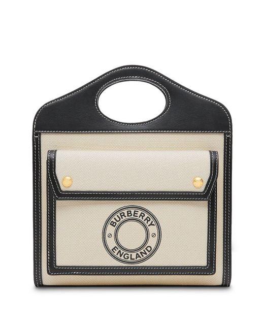Сумка-тоут Размера Мини С Логотипом Burberry, цвет: Black