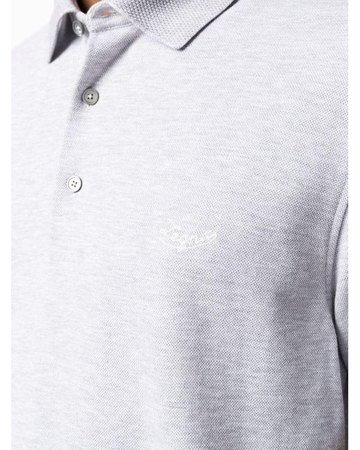 Однотонная Рубашка-поло Ermenegildo Zegna для него, цвет: Gray