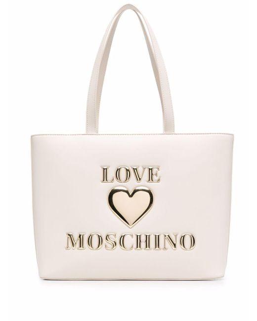 Love Moschino ロゴ トートバッグ White