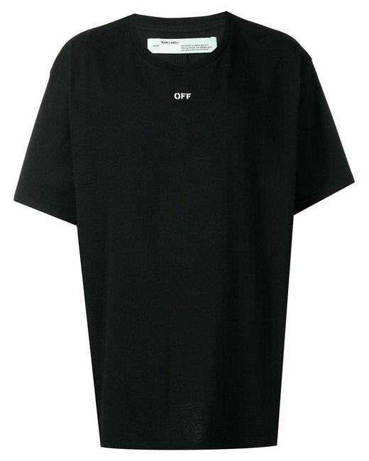 Off-White c/o Virgil Abloh - Black T-shirt oversize imprimé for Men - Lyst