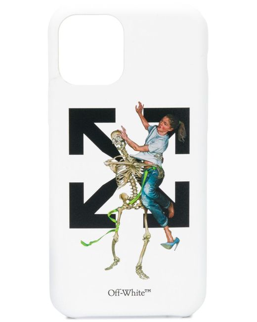 Off-White c/o Virgil Abloh White Arrow And Skeleton-print Iphone 11 Pro Max Phone Case for men