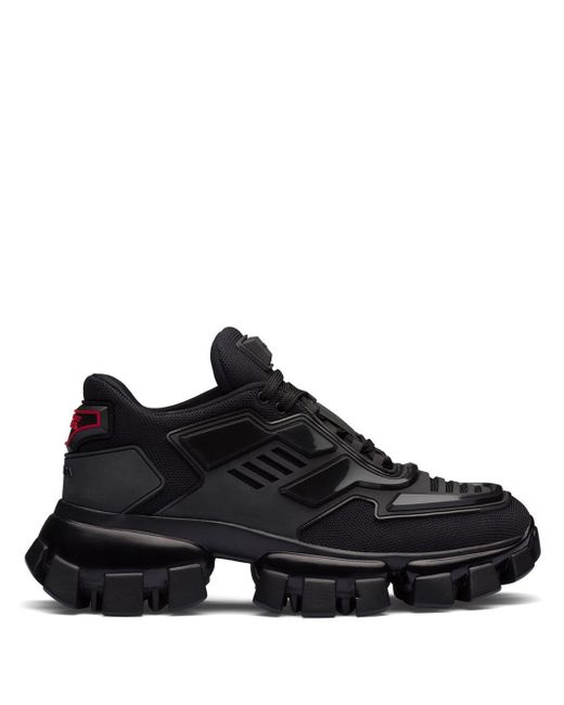 Prada Black Cloudbust Thunder Trainers for men